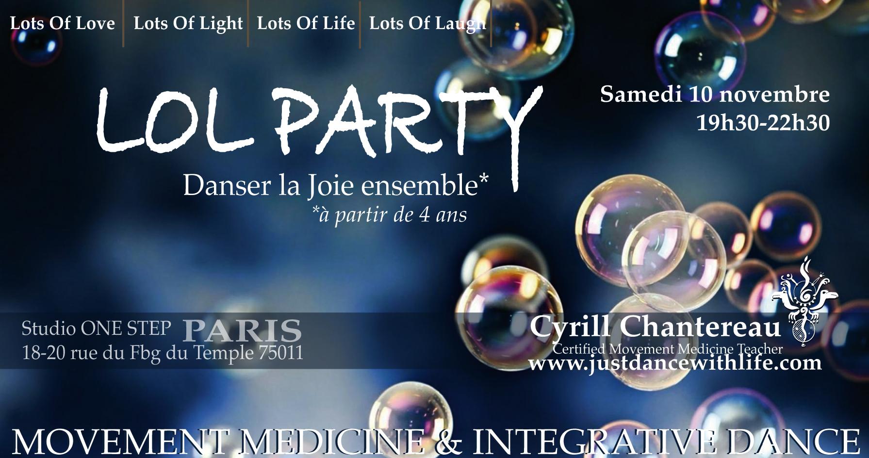 LOL Party ! Danser la Joie en communauté 10/11/18